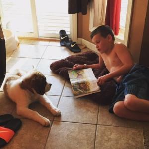 BLOG JR reading to Stella
