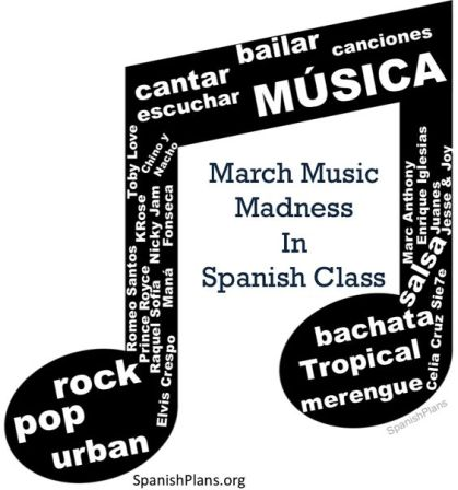 Blog March Music Madness Spanish class