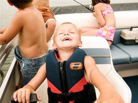Carter enjoying the ride