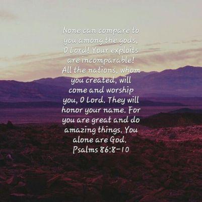Blog psalm 86 8